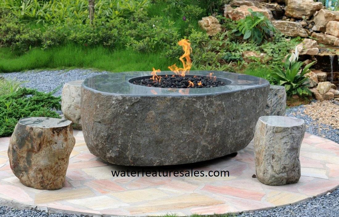 Firepit Fountain Boulder Fountain
